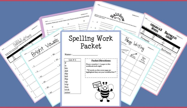 Spelling Packet Free Preview