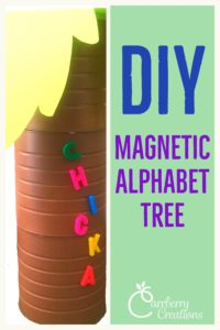 Classroom DIY: Magnetic Alphabet Tree