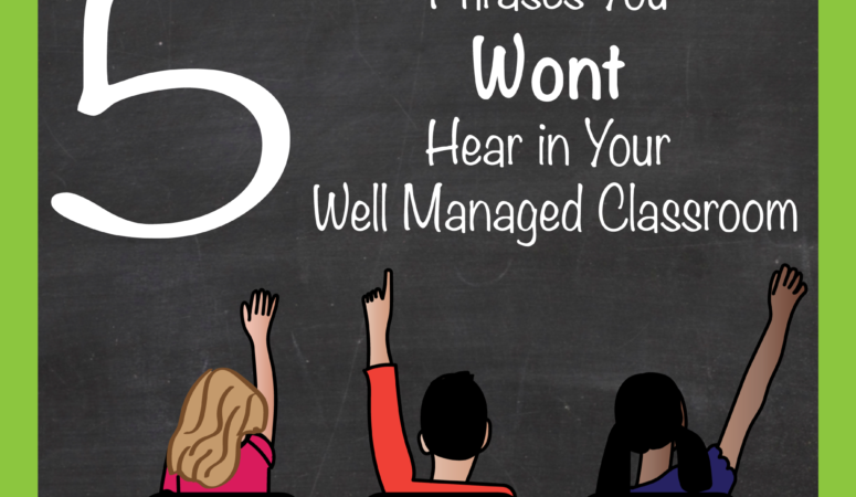 5 Phrases You Wont Hear in Your Well Managed Classroom