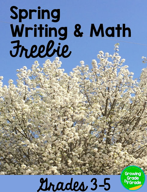 Spring Writing and Math Freebie
