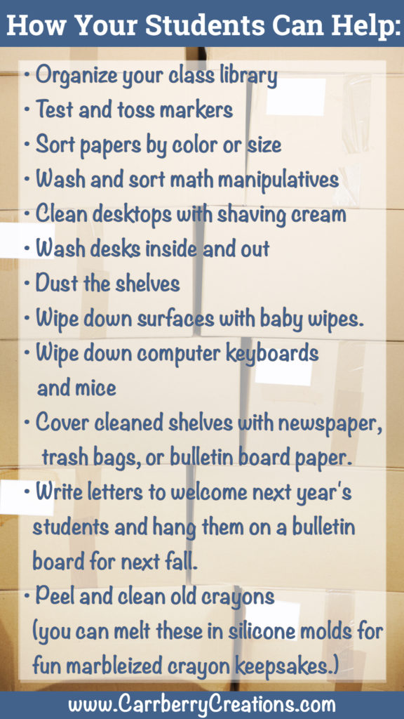 How students can help with the end of the year clean up