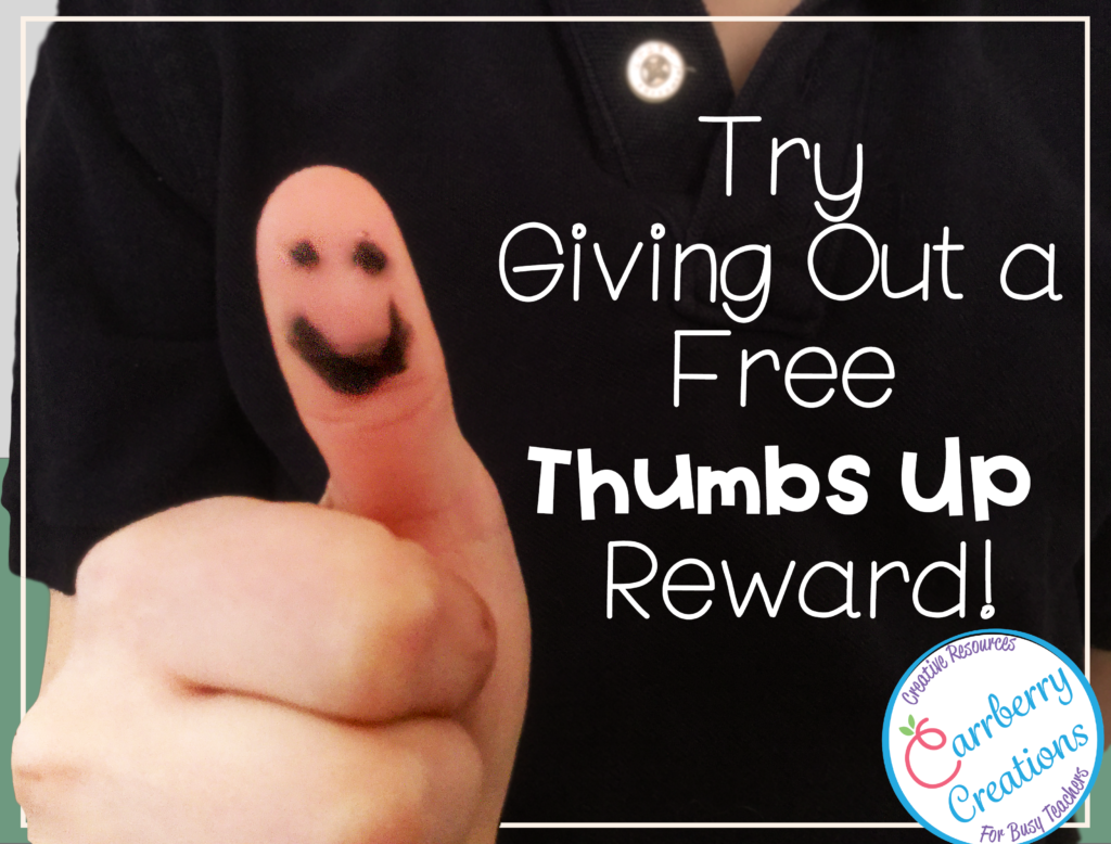 soft skills free classroom reward thumbs up