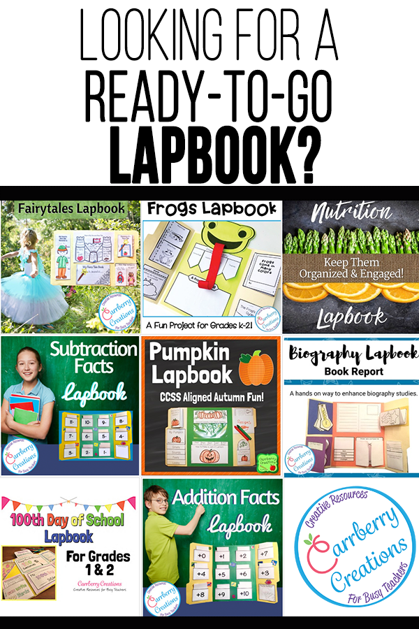 Lapbook resources from Carrberry Creations will make your student's presentations picture perfect for open house night!