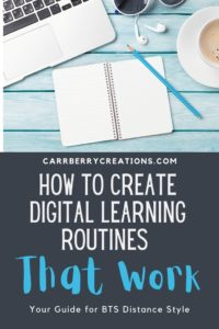 BTS Routines for Distance Learning - Best practices for building digital learning routines for back to school. Be ready for Distance learning with this easy to follow method for setting up your Google Classroom routines and procedures.