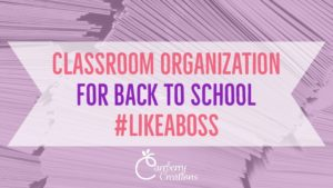 Back to School Classroom Organization