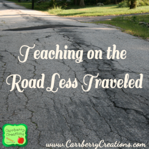 Teaching on the Road Less Traveled |CarrberryCreations