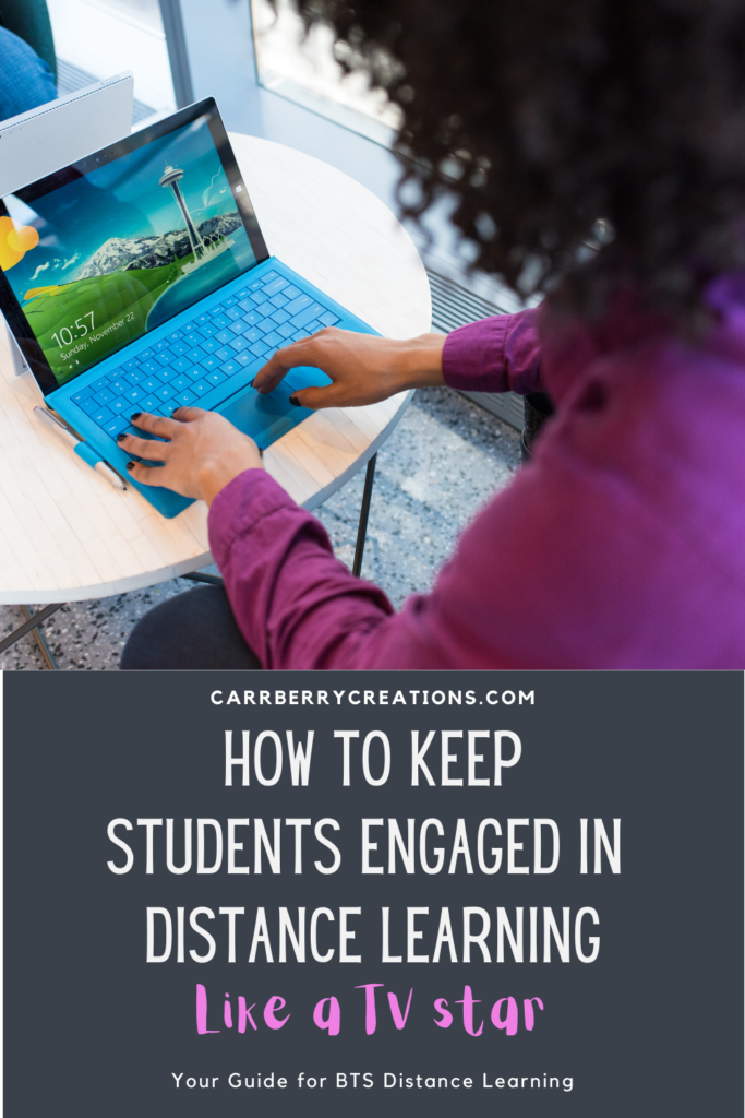 Keep student engagement high while distance learning with these best practices from a veteran teacher. Digital instruction can be tough but with these teaching strategies for online teaching you can have your students engaged and excited to join your class each day! #distancelearning #teaching2020